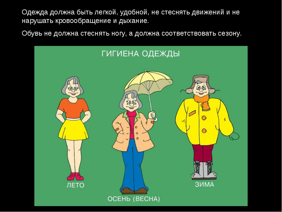 Одежда должна быть легкой, удобной, не стеснять движений и не нарушать кровоо...