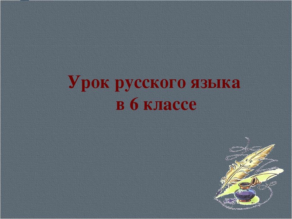 Урок русского языка в 6 классе