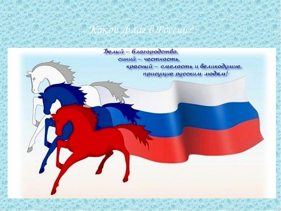 Какой флаг в России?