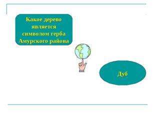 Какое дерево является символом герба Амурского района Дуб