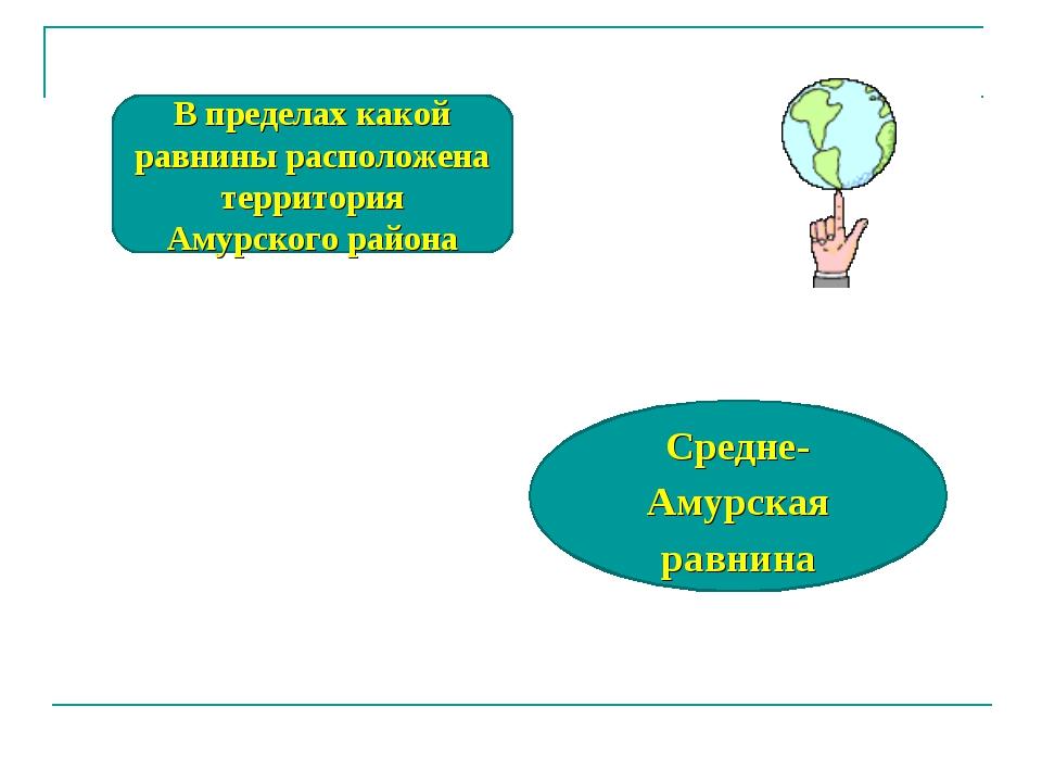 В пределах какой равнины расположена территория Амурского района Средне-Амурс...