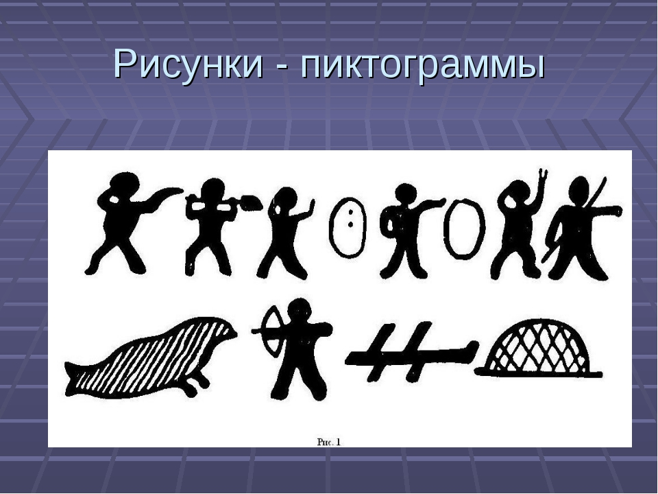 Рисунки - пиктограммы