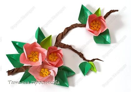 Мастер-класс 8 марта Бумагопластика Оригами Цветы из кругов Бумага