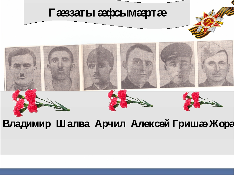Гæззаты æфсымæртæ Владимир Шалва Арчил Алексей Гришæ Жорæ