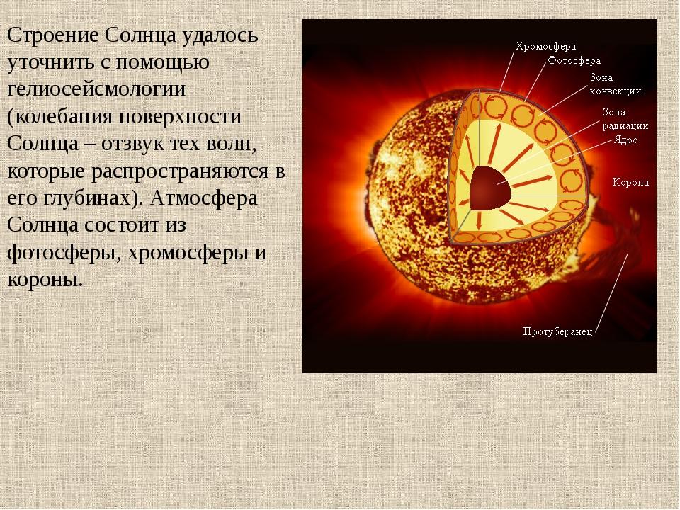 Строение Солнца удалось уточнить с помощью гелиосейсмологии (колебания поверх...