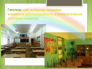 Гипотеза: цвет интерьера оказывает влияние на работоспособность и психологиче