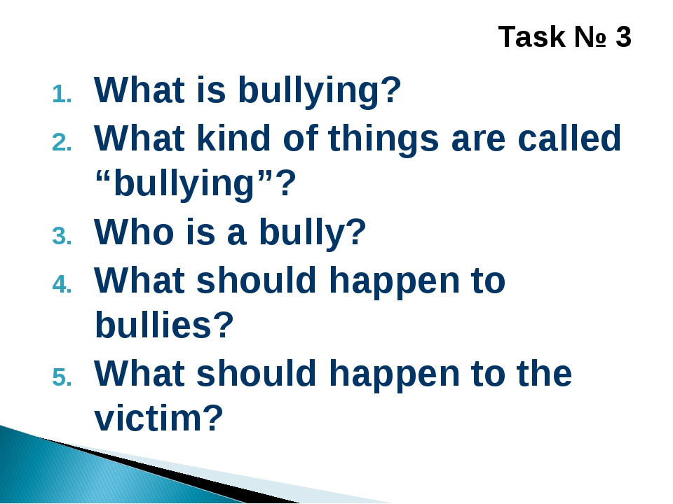 """What is bullying? What kind of things are called """"bullying""""? Who is a bully?..."""