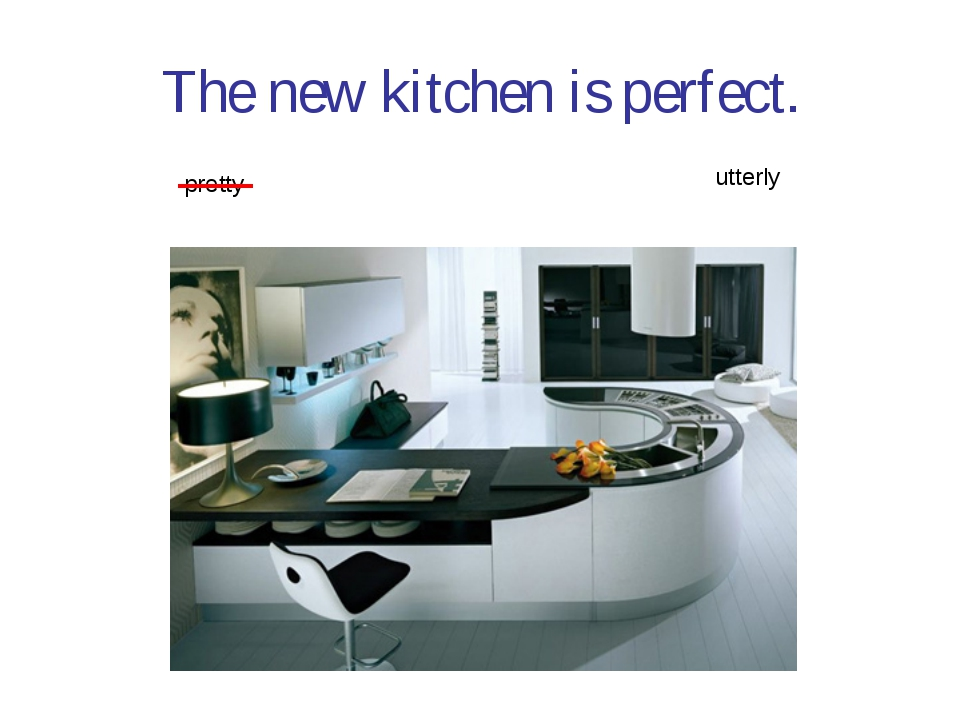 The new kitchen is perfect. pretty utterly