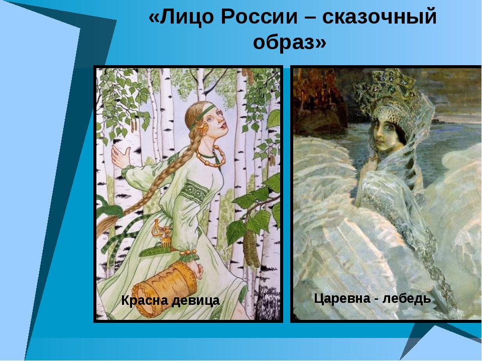 «Лицо России – сказочный образ» Царевна - лебедь Красна девица