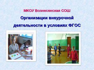 МКОУ Вознесенская СОШ Организации внеурочной деятельности в условиях ФГОС