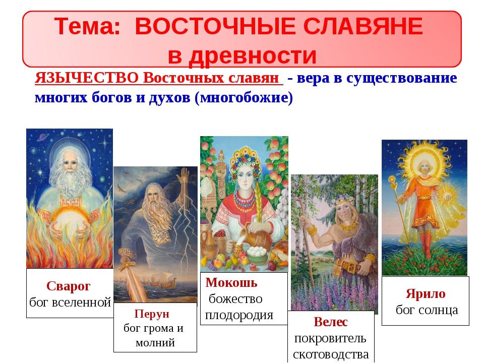 Презентация на тему религия восточных славян