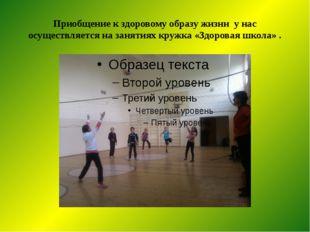Приобщение к здоровому образу жизни у нас осуществляется на занятиях кружка «