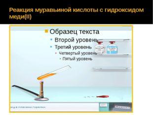 Реакция муравьиной кислоты с гидроксидом меди(II)