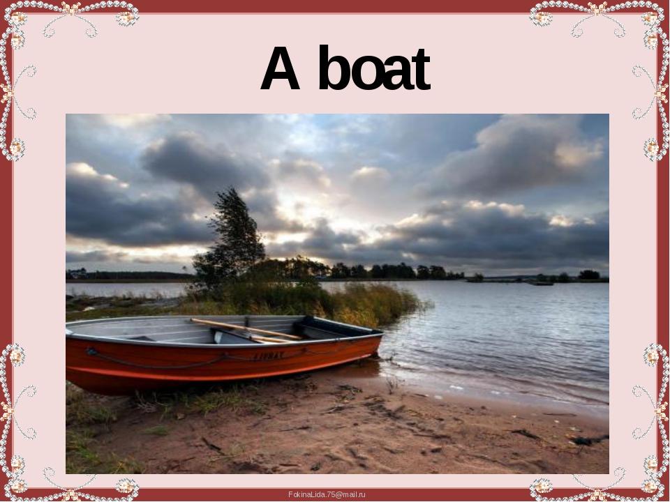 A boat FokinaLida.75@mail.ru