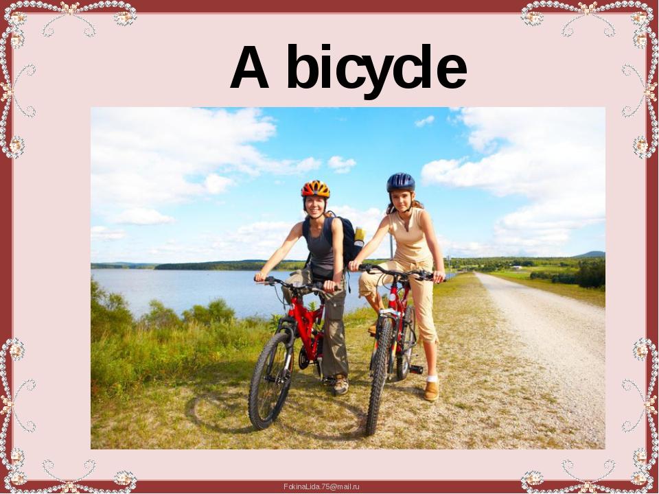 A bicycle FokinaLida.75@mail.ru
