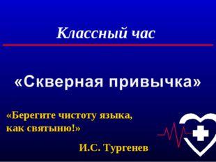 Классный час «Берегите чистоту языка, как святыню!» И.С. Тургенев