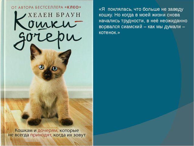 «Я поклялась, что больше не заведу кошку. Но когда в моей жизни снова началис...