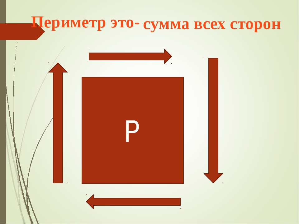 Р Периметр это- сумма всех сторон