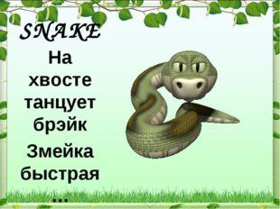 SNAKE На хвосте танцует брэйк Змейка быстрая …