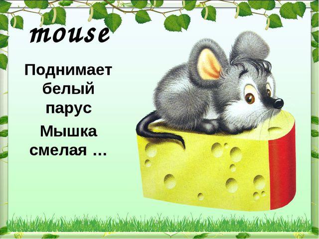 mouse   Поднимает белый парус Мышка смелая …