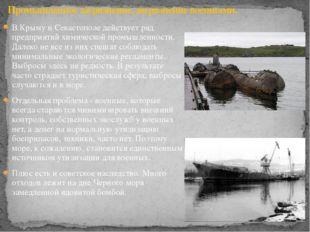 В Крыму и Севастополе действует ряд предприятий химической промышленности. Да