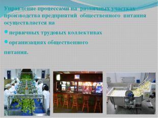 Управление процессами на различных участках производства предприятий обществе