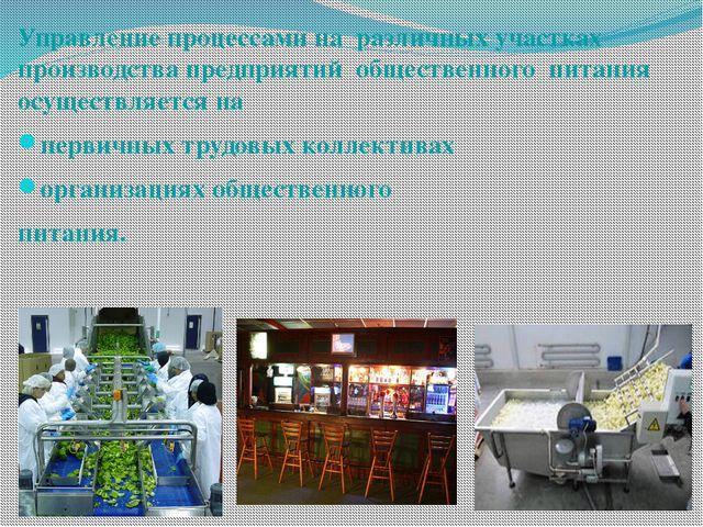 Управление процессами на различных участках производства предприятий обществе...