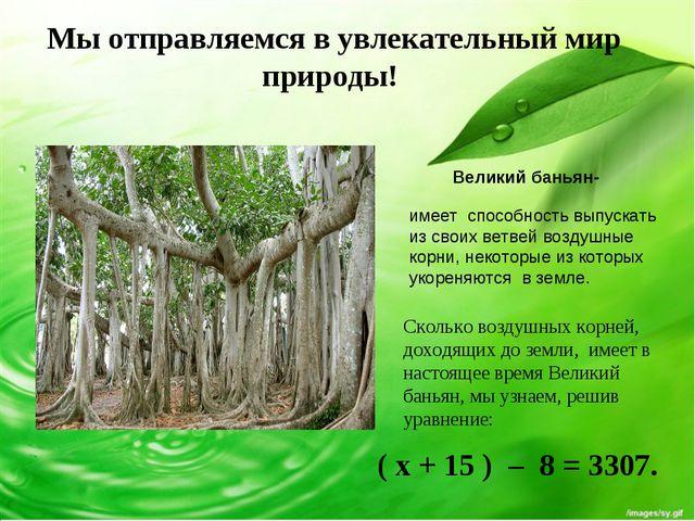 Мы отправляемся в увлекательный мир природы! Великий баньян- имеет способност...
