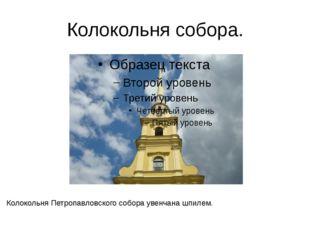 Колокольня собора. Колокольня Петропавловского собора увенчана шпилем. Это са