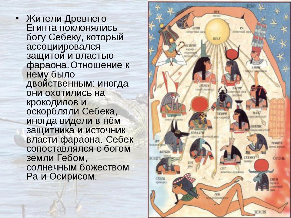 Жители Древнего Египта поклонялись богу Себеку, который ассоциировался защито...