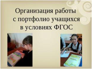 Организация работы с портфолио учащихся в условиях ФГОС