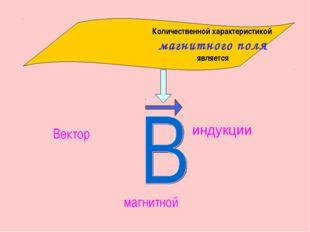 индукции Количественной характеристикой магнитного поля является Вектор магни
