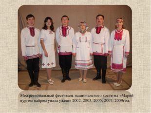 Межрегиональный фестиваль национального костюма «Марий вургем пайрем унала уж
