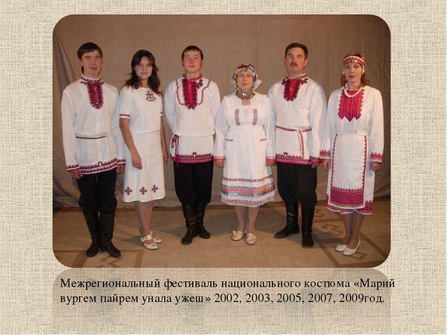 Межрегиональный фестиваль национального костюма «Марий вургем пайрем унала уж...