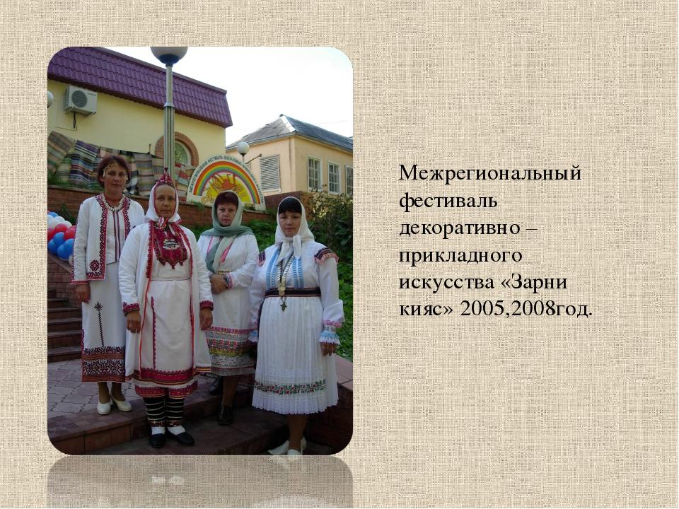 Межрегиональный фестиваль декоративно – прикладного искусства «Зарни кияс» 20...
