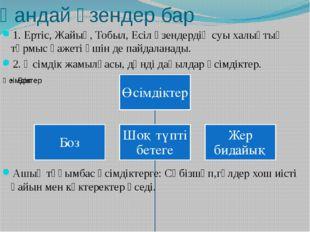 Қандай өзендер бар 1. Ертіс, Жайық, Тобыл, Есіл өзендердің суы халықтың тұрмы
