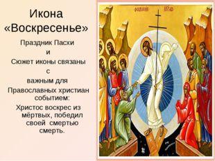 Икона «Воскресенье» Праздник Пасхи и Сюжет иконы связаны с важным для Правосл