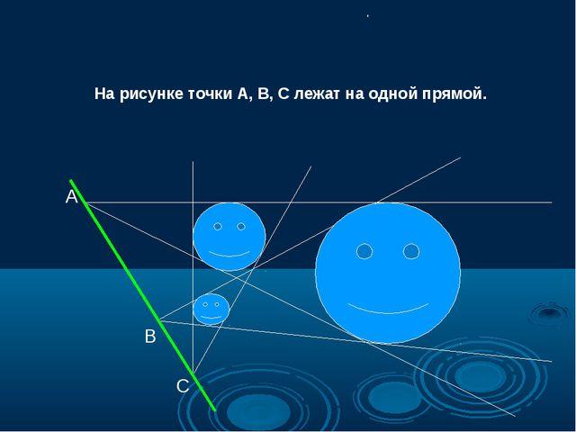 А С В На рисунке точки А, В, С лежат на одной прямой. .