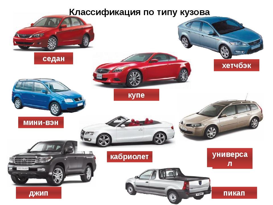 типы кузовов легковых автомобилей с фото шагают