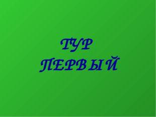 ТУР ПЕРВЫЙ