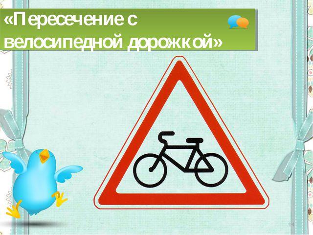 * «Пересечение с велосипедной дорожкой»
