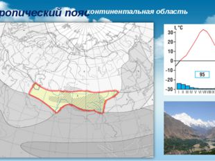 Субтропический пояс континентальная область
