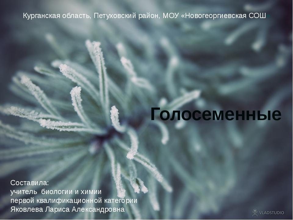 Курганская область, Петуховский район, МОУ «Новогеоргиевская СОШ» Голосеменны...
