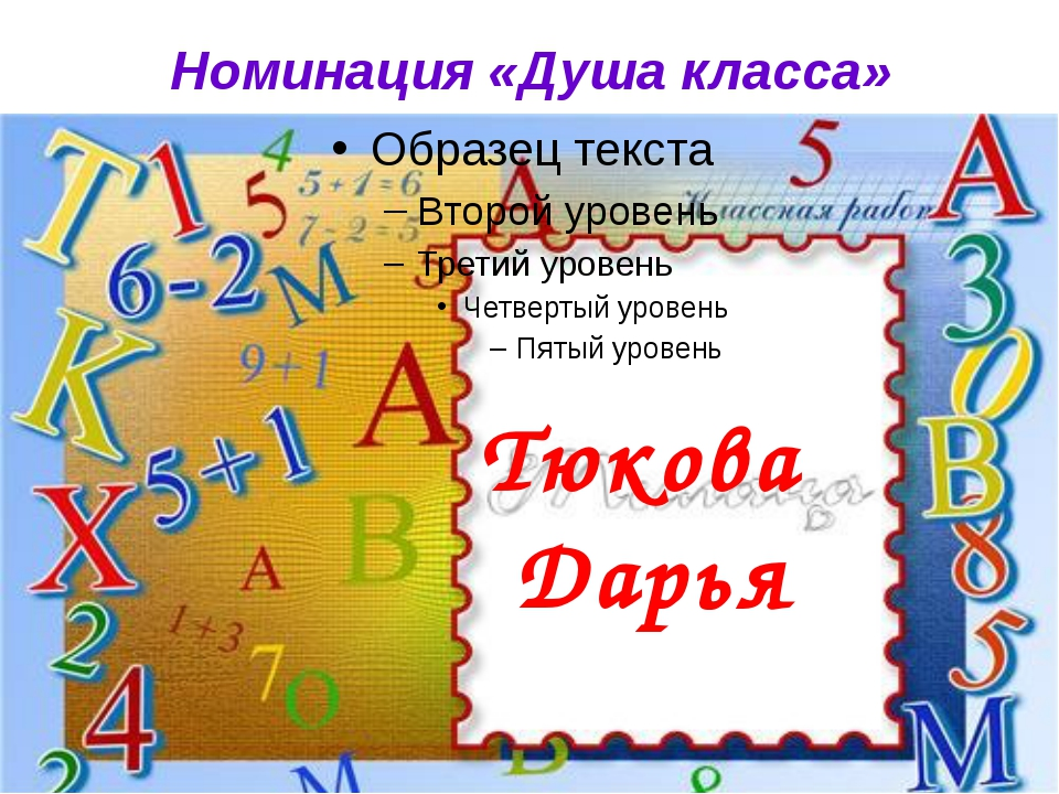 Номинация «Душа класса» Тюкова Дарья