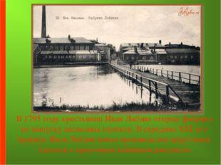 В 1795 году крестьянин Иван Лабзин открыл фабрику по выпуску шелковых платко