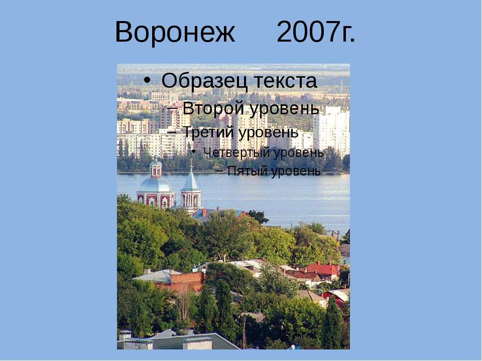 Воронеж 2007г.