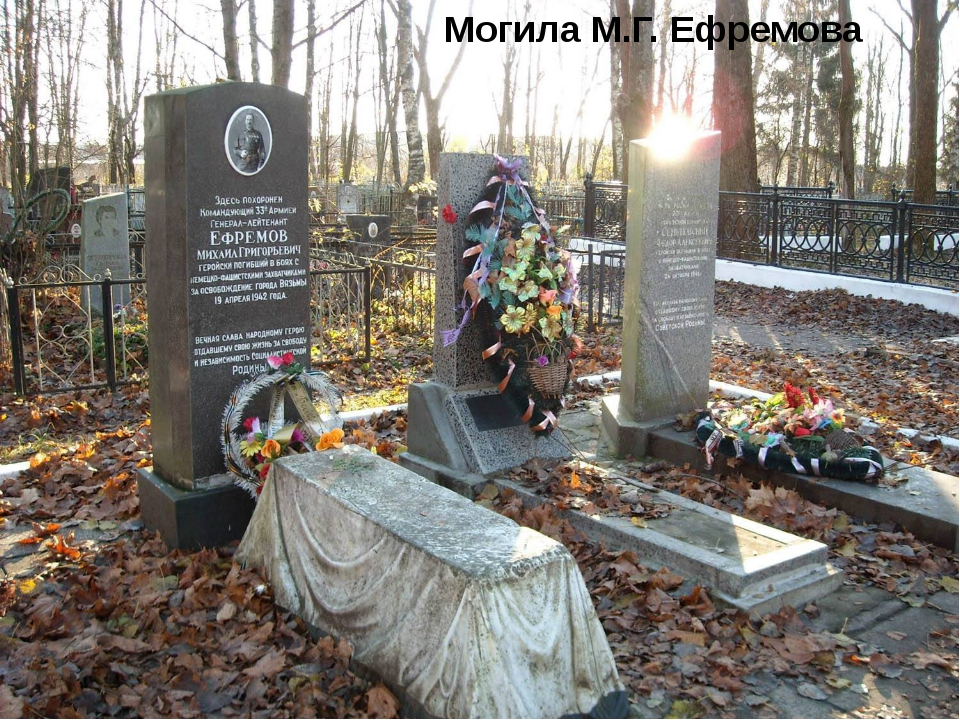 Могила М.Г. Ефремова