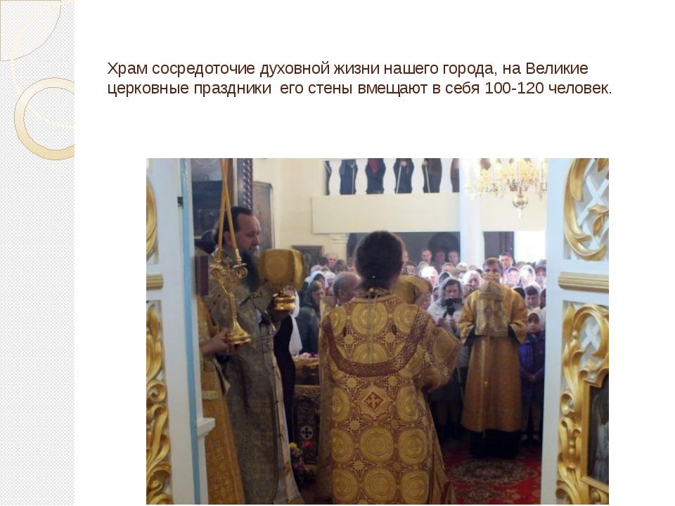 Храм сосредоточие духовной жизни нашего города, на Великие церковные праздник...