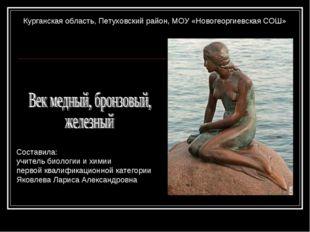 Курганская область, Петуховский район, МОУ «Новогеоргиевская СОШ» Составила: