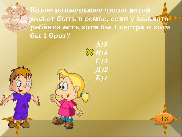 Какое наименьшее число детей может быть в семье, если у каждого ребёнка есть...